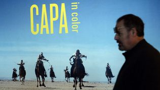 L'exposition Capa in Color à New York  (EMMANUEL DUNAND / AFP)