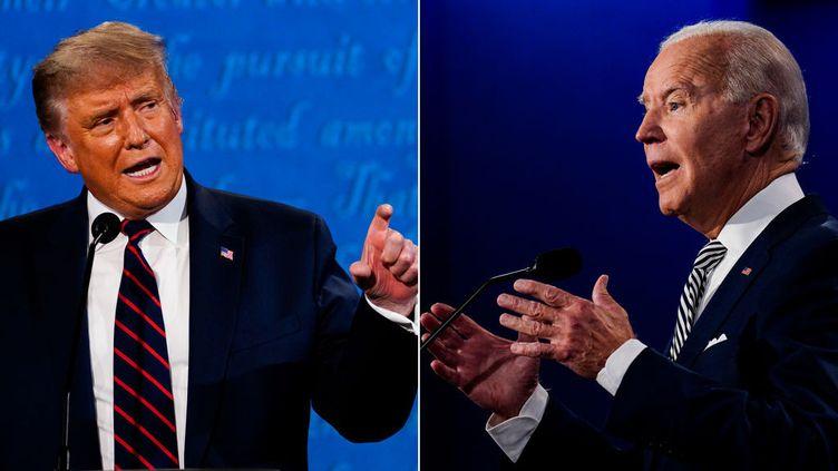 Le président Donald Trump s'exprime lors du premier débat présidentiel avec l'ancien vice-président Joe Biden à la Case Western Reserve University de Cleveland, Ohio, le mardi 29 septembre 2020. (THE WASHINGTON POST / THE WASHINGTON POST)