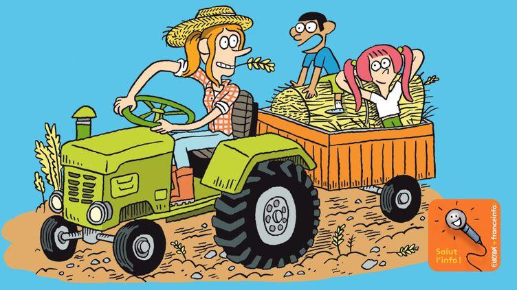 La situation des agriculteurs, c'est ledossier de la semaine de Salut l'info ! (ASTRAPI / BAYARD PRESSE / FRANCE INFO / RADIO FRANCE)