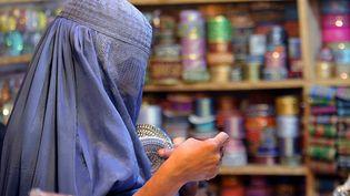 Une femme afghane fait ses courses dans un marché au nord du pays, le 24 octobre 2012. (A. MAJEED / AFP)