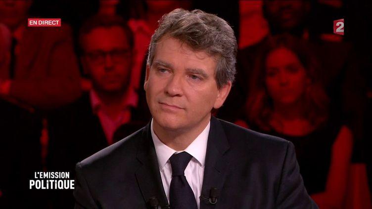 """Arnaud Montebourg, le 22 septembre 2016 sur le plateau de """"L'Emission politique"""" de France 2. (FRANCE 2)"""
