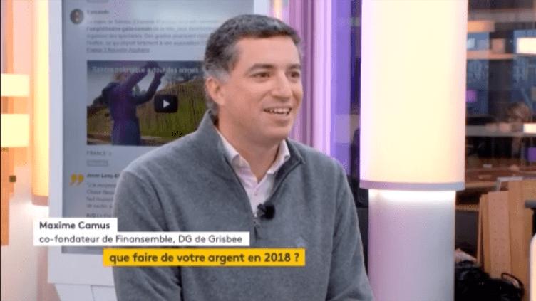 """Invité de Jean-Paul Chapel dans """":l'éco"""", Maxime Camus, directeur général de Grisbee, coach financier, donne les clés pour faire les bons placements en 2018. (FRANCEINFO)"""
