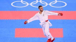 Steven Da Costa lors des Jeux de Tokyo, le 5 août 2021. (MILLEREAU PHILIPPE / KMSP via AFP)