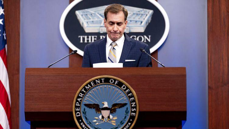 Le porte-parole du Pentagone, John Kirby, le 12 août 2021 à Washington (Etats-Unis). (ANDREW HARNIK / AP)