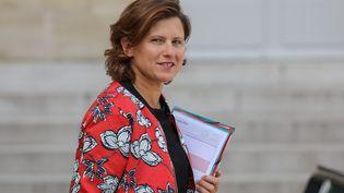 La ministre des SportsRoxana Maracineanu, le 21 août 2019, à l'Elysée, à Paris. (LUDOVIC MARIN / AFP)