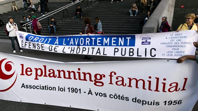 Manifestation pour le droit à l'avortement à Paris, le 28 septembre 2019. (VINCENT ISORE / MAXPPP)