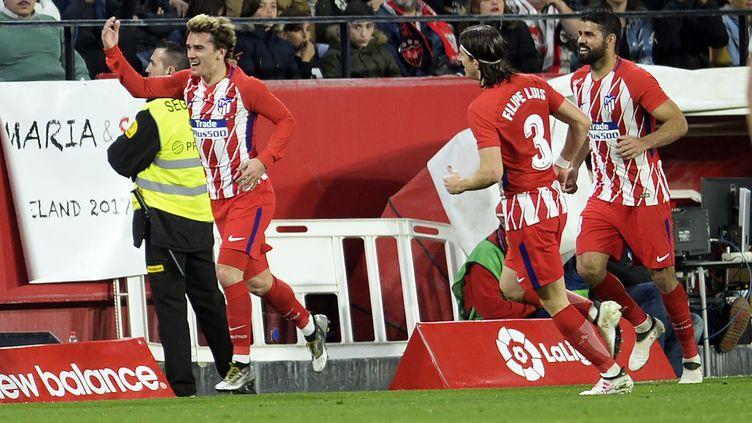 Antoine Griezmann buteur avec l'Atletico (CRISTINA QUICLER / AFP)