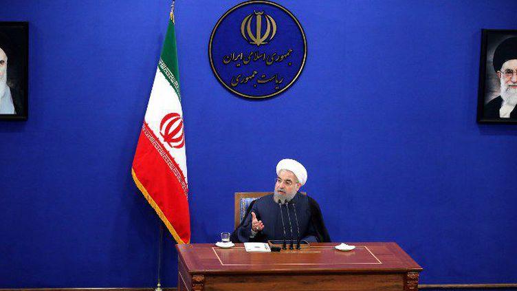 Le président iranien, pur produit de la révolution khomeyniste et sous tutelle du guide suprême Ali Khamenei, en conférence de presse à Téhéran le 29 août 2015. (Fatemeh Bahrami / Anadolu Agency)