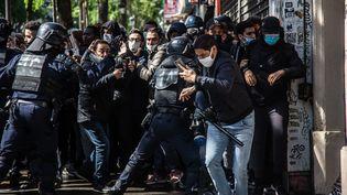 Manifestation pro-palestinienne interdite à Paris, le 15 mai 2021. (SADAK SOUICI / LE PICTORIUM / MAXPPP)