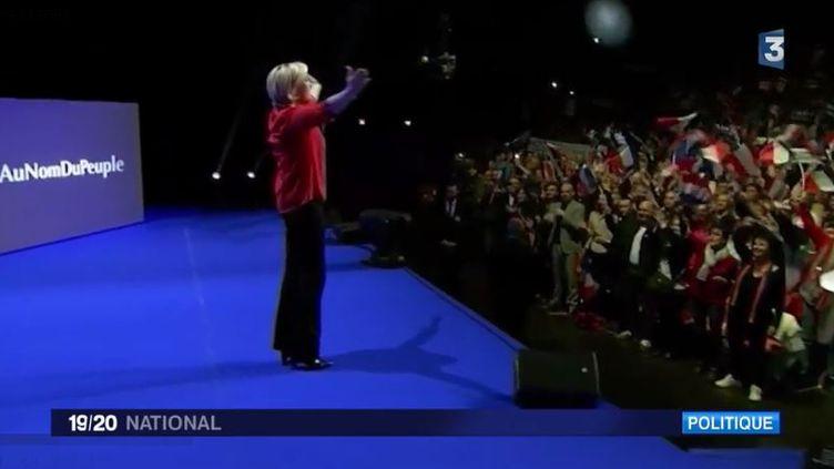 Marine Le Pen à Châteauroux (FRANCE 3)