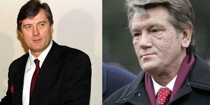 Viktor Iouchtchenko, alors Premier ministre ukrainien, en 2000, puis en 2006, lors de son mandat présidentiel. (Reuters - Reuters / Ints Kalnins )