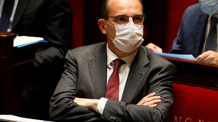 Le Premier ministre Jean Castex lors d'une session de questions au gouvernement à l'Assemblée nationale, à Paris, le 1er juin 2021. (THOMAS SAMSON / AFP)
