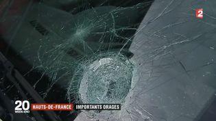 Une grande partie des Hauts-de-France a été touchée par des averses de grêle. À certains endroits, les dégâts sont importants (FRANCE 2)