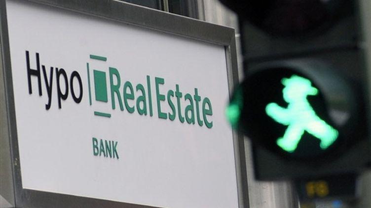 Hypo Real Estate (banque allemande nationalisée pour cause de difficultés) (© AFP/MICHAEL GOTTSCHALK)