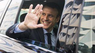 Emmanuel Macron lors d'un déplacement à Bordeaux, le 10 mars 2017. (SEBASTIEN ORTOLA / REA)