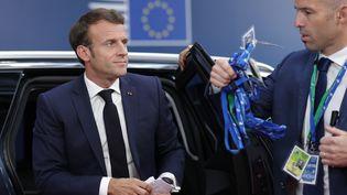 Emmanuel Macron arrive à Bruxelles, mardi 2 juillet 2019. (AFP)