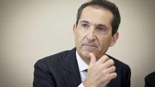 Patrick Drahi, patron du groupe Altice, à la commission des affaires économiques du Sénat, le 8 juin 2016. (MAXPPP)