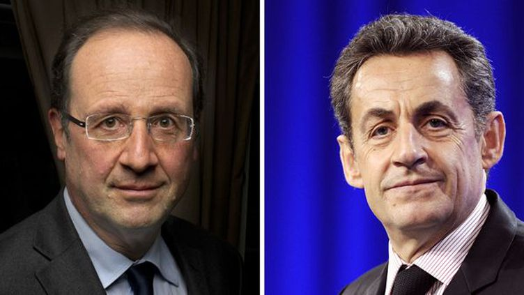 François Hollande et Nicolas Sarkozy.  (Eric Feferberg - Fred Dufour / AFP )