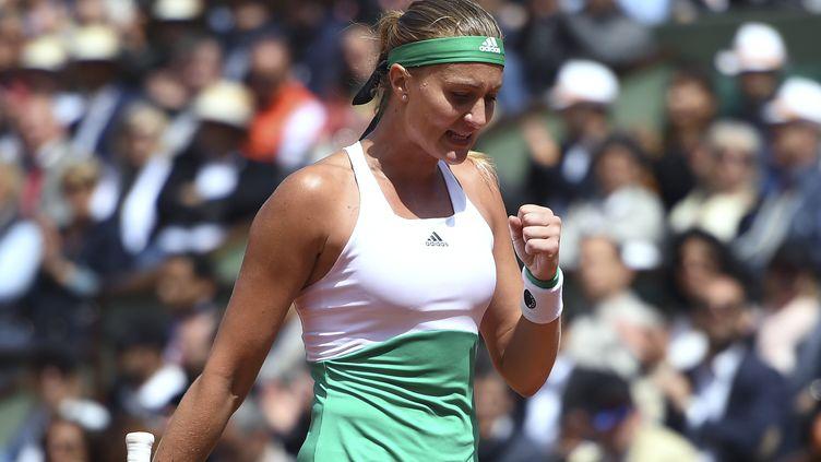 La Française Kristina Mladenovic à Roland-Garros. (ERIC FEFERBERG / AFP)