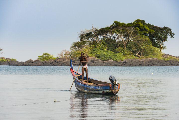 Dans les îles Banana, lieu touristique de Sierra Leone (photo prise le 1er janvier 2018) (MICHAEL RUNKEL / ROBERT HARDING PREMIUM)