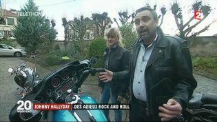 """Thierry Roche et sa compagne seront dans le cortège de l'""""hommage populaire"""" à la mémoire de Johnny Hallyday. (FRANCE 2)"""