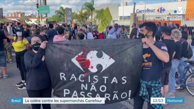 Brésil : des manifestants prennent d'assaut des supermarchés Carrefour