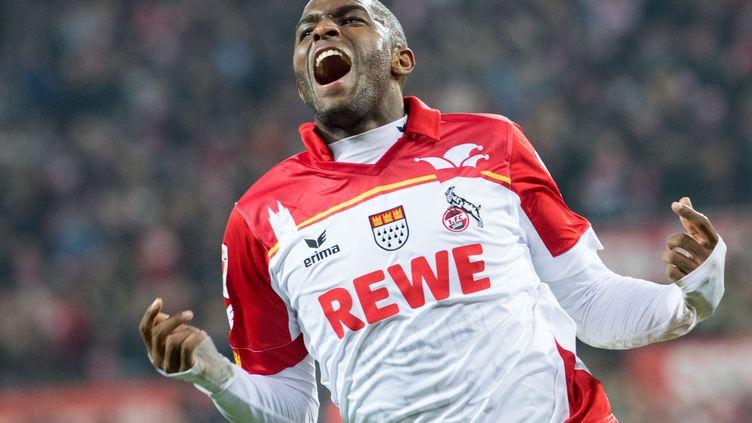 L'attaquant du FC Cologne, Anthony Modeste, flambe cette saison en Allemagne (MARIUS BECKER / DPA)