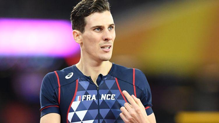 L'athlète français Pierre-Ambroise Bosse, lors des Mondiaux d'athlétisme à Londres (Royaume-Uni), le 8 août 2017. (JEWEL SAMAD / AFP)