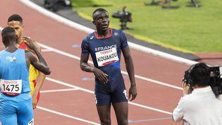 Le Français Charles-Antoine Kouakou remporte le 400 m T20, le 31 août 2021, lors des Jeux paralympiques de Tokyo. (G.MIRAND / FRANCE PARALYMPIQUE)