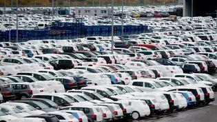 Des voitures Volkswagen neuves sur un parking à Fallersleben, en Allemagne, le 6 novembre 2015. (JULIAN STRATENSCHULTE / DPA /AFP)