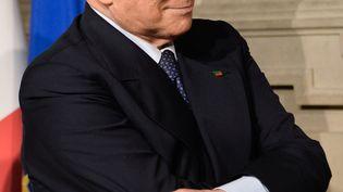 L'ancien chef du gouvernement italien Silvio Berlusconi, leader du parti politique Forza Italia, le 7 mai 2018 à Rome (Italie). (SILVIA LORE / NURPHOTO / AFP)