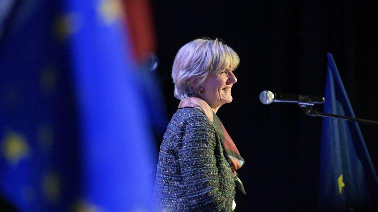 Véronique Trillet-Lenoir, eurodéputée LREM, le 9 mai 2019 à Lyon. (MAXIME JEGAT / MAXPPP)