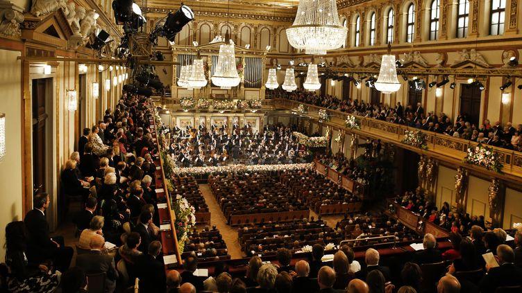 Le Concert du Nouvel An de Vienne (ici en 2017) dans le célèbre Muzikverein doré...  (DIETER NAGL / APA-PictureDesk / APA)
