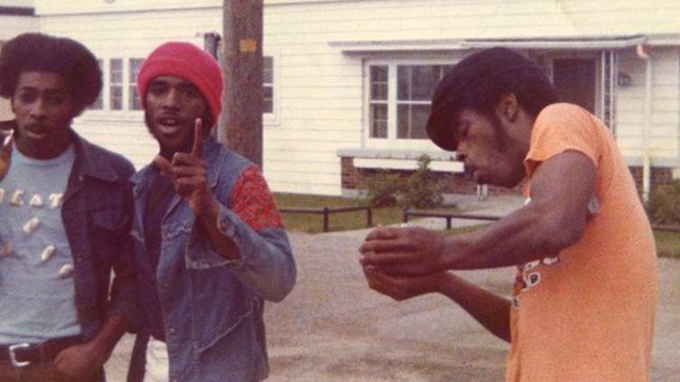 Death au début des années 70, avec de gauche à droite Bobby Hackney, David Hackney et Dannis Hackney.  (Drafthouse Films)