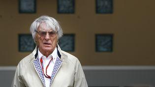 Bernie Eccleston, le patron de la F1, lors d'une course automobile à Bahreïn début avril. (FREDERIC LE FLOC H / DPPI MEDIA)