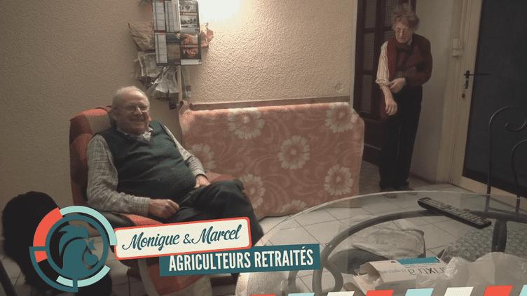 Monique et Marcel, habitants de Bure (Meuse), sont deuxagriculteurs à la retraite. (RAPHAËL KRAFFT ET ALEXIS MONCHOVET)