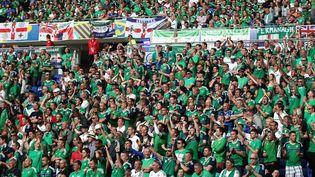 Des supporters de l'Irlande du Nord, le 16 juin 2016, à Lyon (Rhône). (MICHAEL ZEMANEK / BACKPAGE IMAGES LTD / AFP)