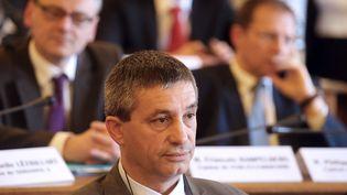 Le président du conseil départemental de l'Aisne, Nicolas Fricoteaux, le 2 avril 2019. (FRANCOIS NASCIMBENI / AFP)