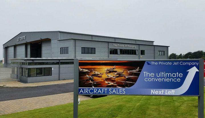 Jet centre de l'aéroport de Ronaldsway sur l'île de Man. (JACQUES MONIN / RADIO FRANCE)