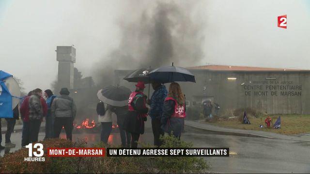 Mont-de-Marsan : un détenu agresse sept surveillants