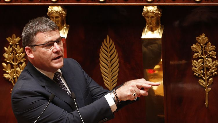 Christophe Sirugue, avant qu'il ne soit secrétaire d'Etat à l'Industrie, le 3 mai 2016, à l'Assemblée nationale. (FRANCOIS GUILLOT / AFP)