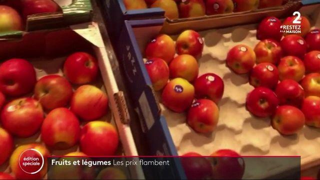 Confinement : les prix des fruits et légumes en hausse