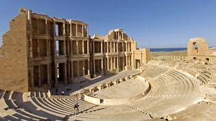 Le théâtre antique romain de Sabratha, en Libye (12 août 2018)  (Philippe Roy / Aurimages / AFP)