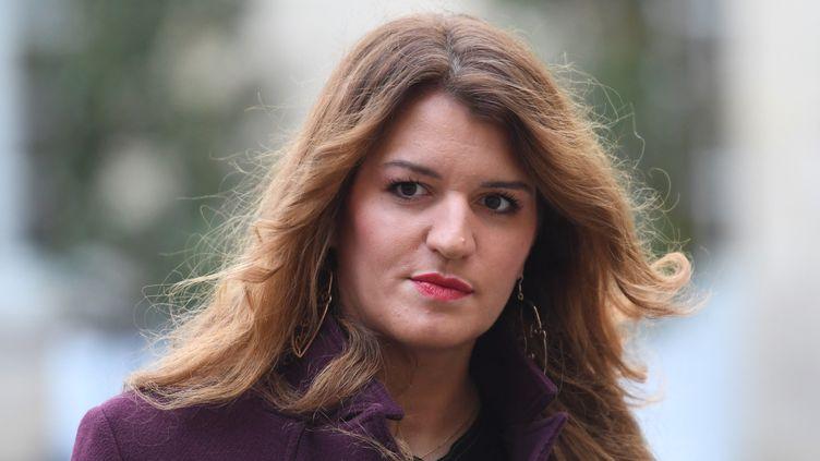 Marlène Schiappa, secrétaire d'Etat chargé de l'Egalité entre les femmes et les hommes, à l'hotel Matignon à PAris, le 25 novembre 2019. (STEPHANE DE SAKUTIN / AFP)