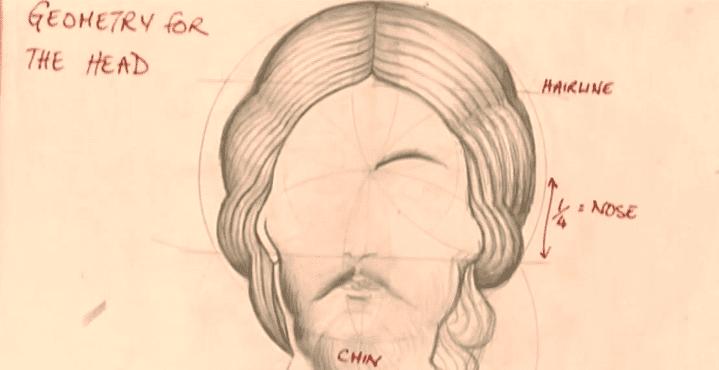 Le dessin du visage du Christ doit correspondre à certaines proportions  (Culturebox)