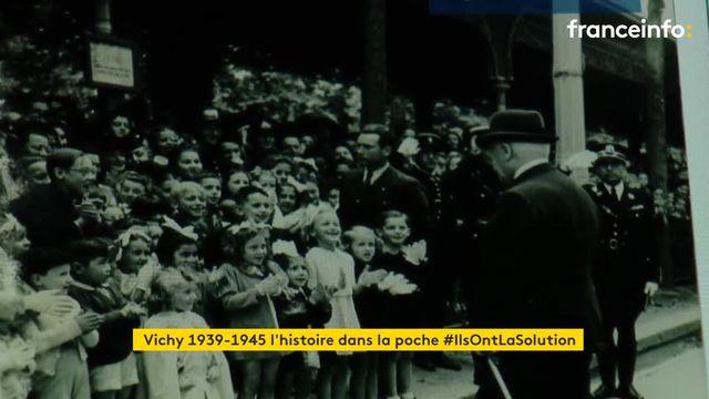 Cette appli retrace l'histoire de Vichy pendant la Seconde Guerre mondiale à travers une visite guidée