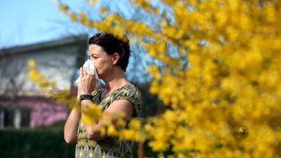 La saison des pollens est en avance dans le sud de la France (cyprès et chênes) et un pic est attendu au nord de laLoire(bouleaux et frênes). Photo d'illustration. (LIONEL VADAM  / MAXPPP)