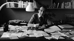 Italo Calvino dans son cabinet de travail à Paris en 1978  (ANDERSEN ULF/SIPA )