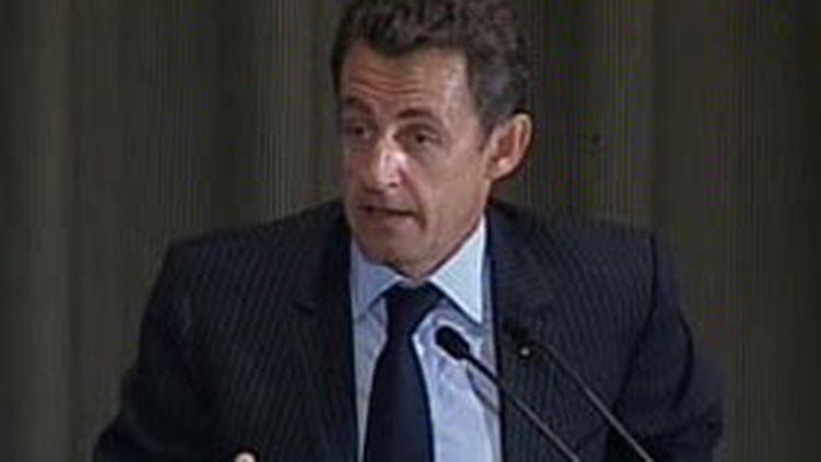 Nicolas Sarkozy devant l'Onu à New York, 24 septembre 2007 (© France 3)