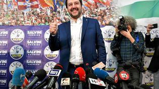 Le leader de la Ligue du Nord, Matteo Salvini, à Milan (Italie), le 5 mars 2018. (AFP)